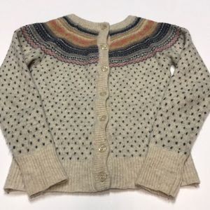 Girl's Warm Wool Sweater
